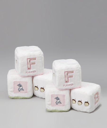 Pink Bambi Plush Block Set