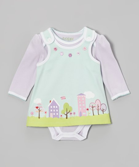 Lavender Bodysuit & Winter Mint Tree Jumper - Infant
