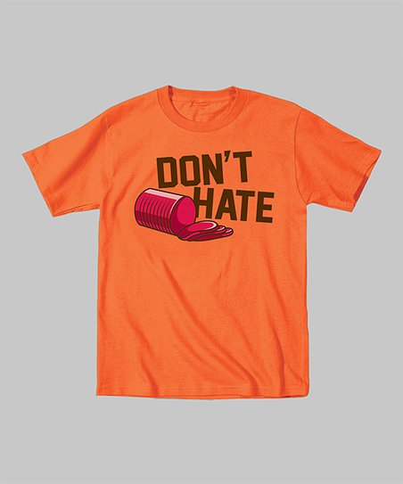 Orange 'Don't Hate' Tee- Toddler & Kids