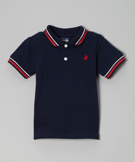 Navy & Red Polo - Infant & Toddler