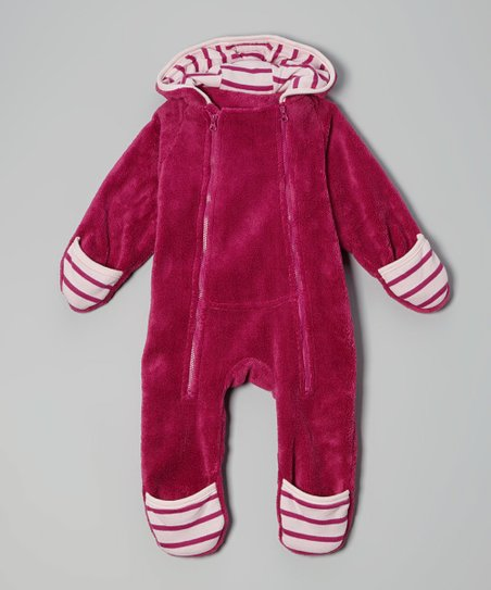 Pink Fleece Hooded Bunting - Infant