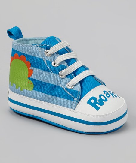 Blue Stripe Dinosaur 'Roar!' Hi-Top Sneaker