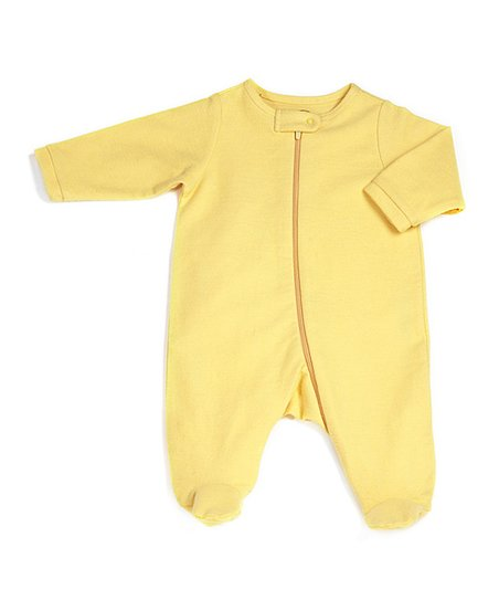 Cornbread Zip-Up Organic Footie - Infant