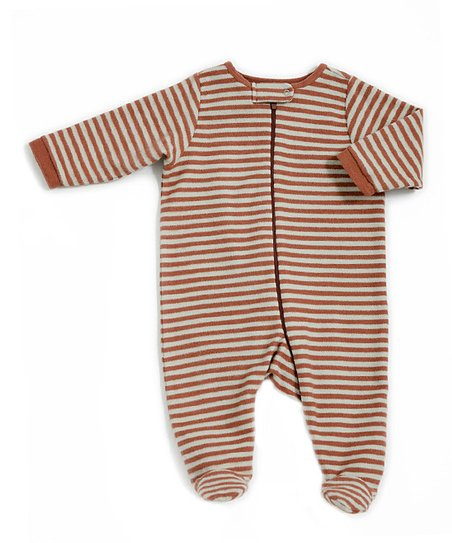 Copper Slate Zip-Up Organic Footie - Infant