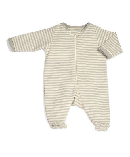 Vanilla Slate Zip-Up Organic Footie - Infant