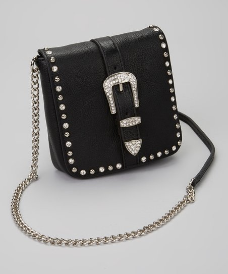Black Buckle Crossbody Bag