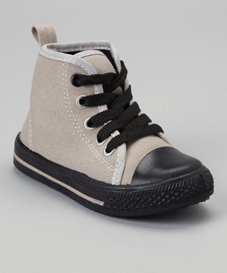Gray & Black Hi-Top Sneaker