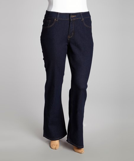 Dark Wash Bootcut Jeans - Plus