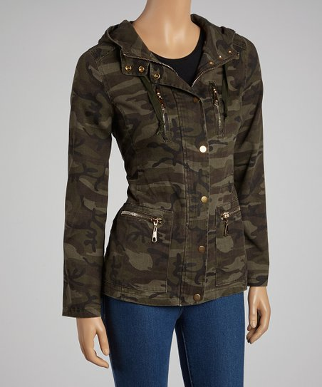 Dark Olive Camo Jacket
