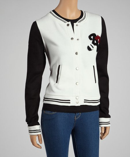 White & Black Athletic Jacket
