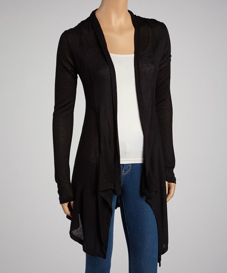 Black Hacci Open Cardigan
