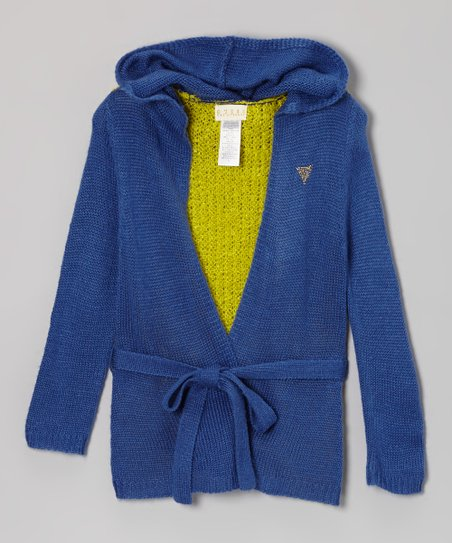 Blue Hooded Cardigan - Toddler & Girls