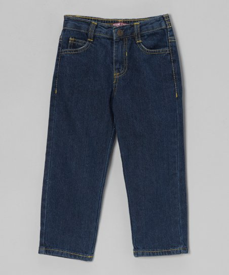 Denim Blue Straight-Leg Jeans - Toddler