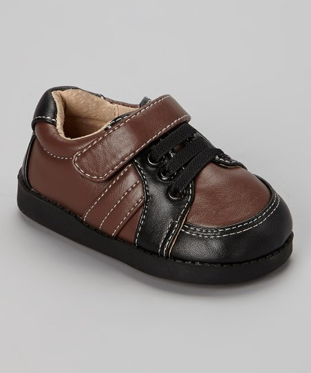Black & Brown Stitch Squeaker Shoe
