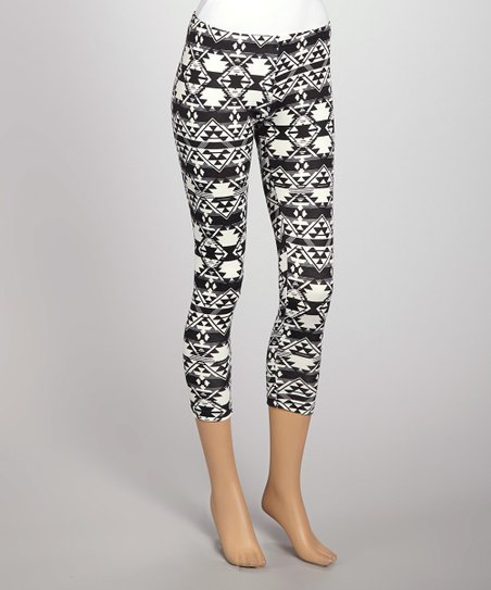 Black & White Aztec Leggings