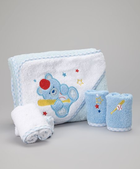 White Star Bear Hooded Towel Set