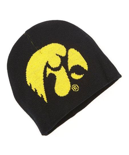 Black & Yellow Iowa Mascot Jacquard Knit Beanie