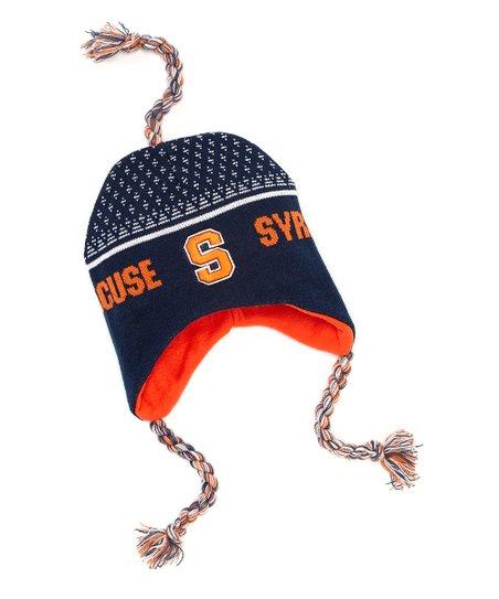 Blue & Orange Syracuse Earflap Beanie