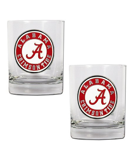 Alabama Crimson Tide Rocks 14-Oz. Glass – Set of Two
