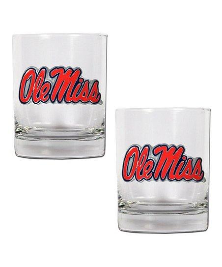 Ole Miss Rocks 14-Oz. Glasses - Set of Two