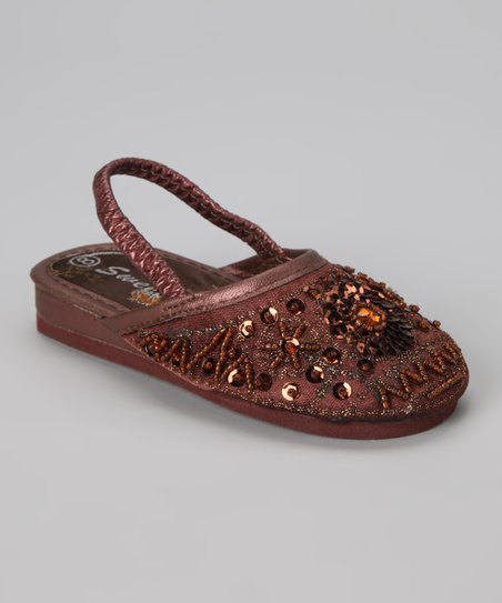 Copper Sequin Slipper