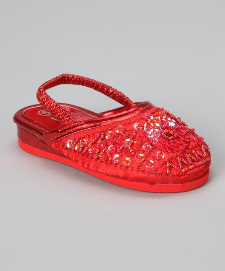 Red Sequin Slipper