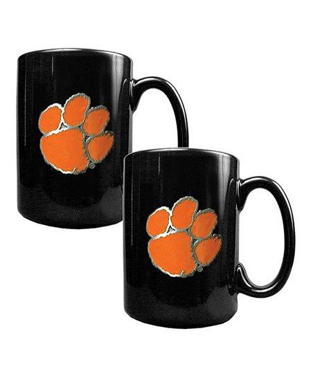 Clemson Tigers 15-Oz. Coffee Mug - Set of Two