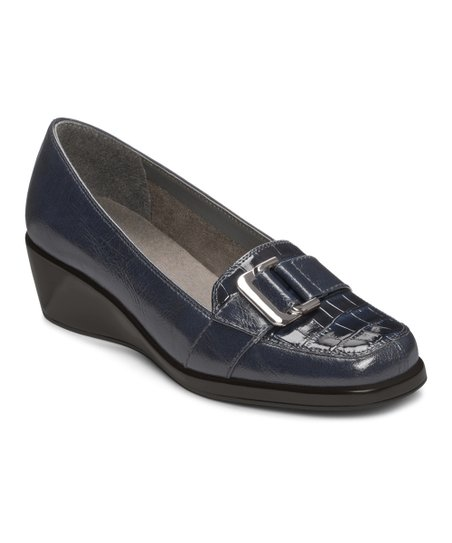 Navy Crocodile Temptress Loafer