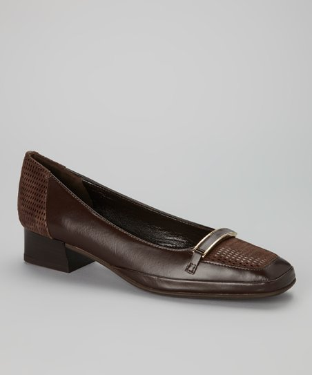 Brown Leather Messico Pump