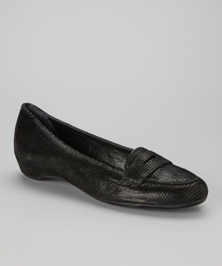Black Leather Sondrio Loafer