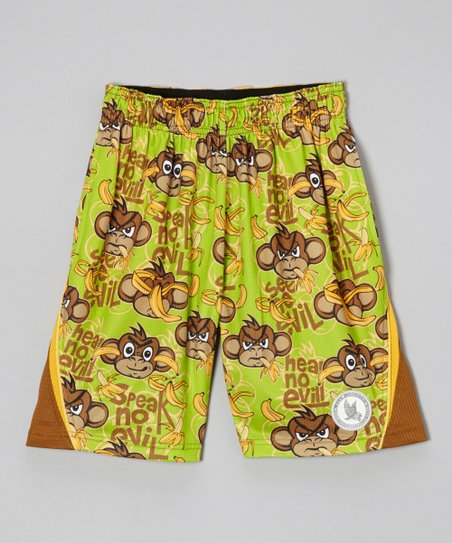 Green 'Flow No Evil' Lacrosse Shorts - Boys