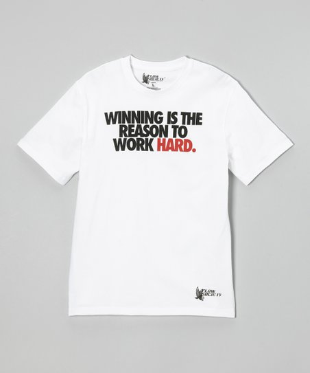 White 'Winning is the Reason' Tee - Kids