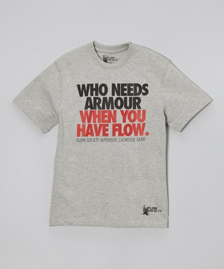 Heather Grey 'Who Needs Armour' Tee - Boys