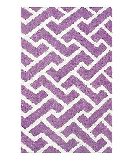 Purple & White Sawyer Indoor/Outdoor Rug