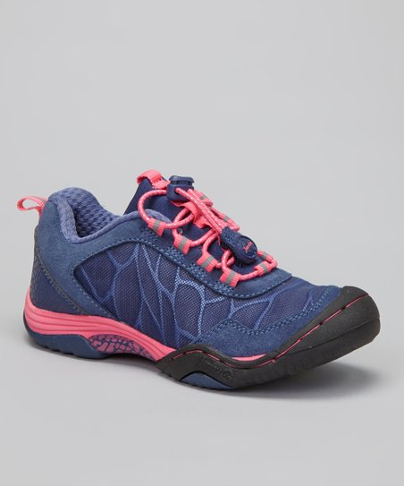 Navy & Pink Saki All-Terrain Shoe - Girls