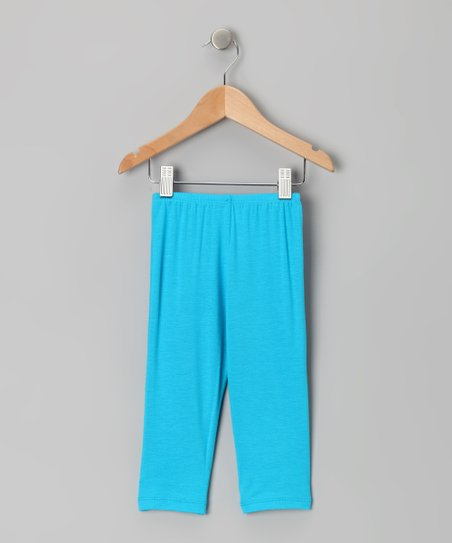 Baby Blue Capri Leggings - Toddler & Girls