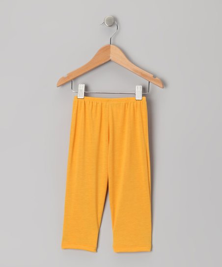 Yellow Capri Leggings - Toddler & Girls
