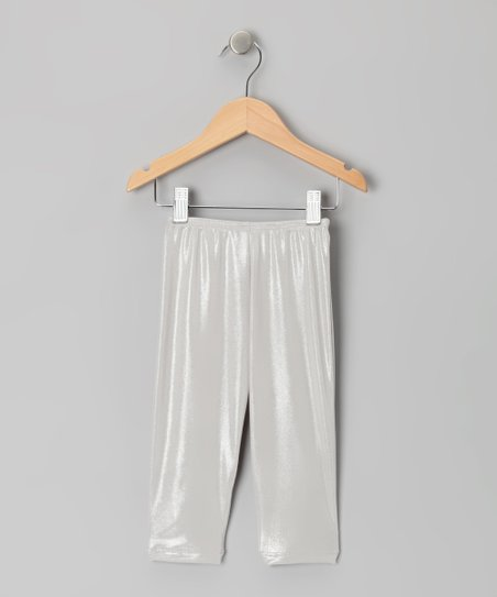 Silver Capri Leggings - Toddler & Girls