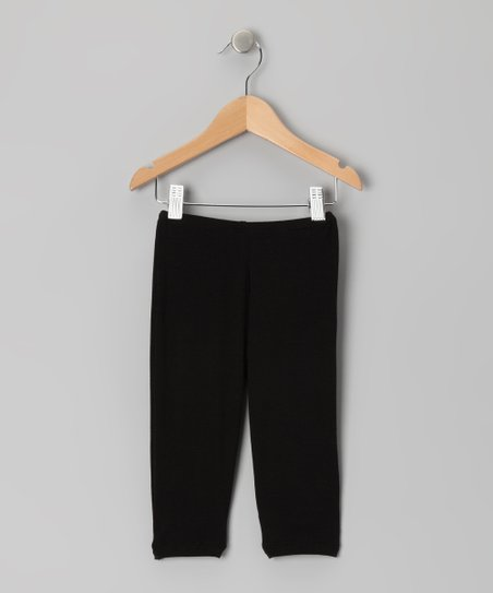 Black Capri Leggings - Toddler & Girls