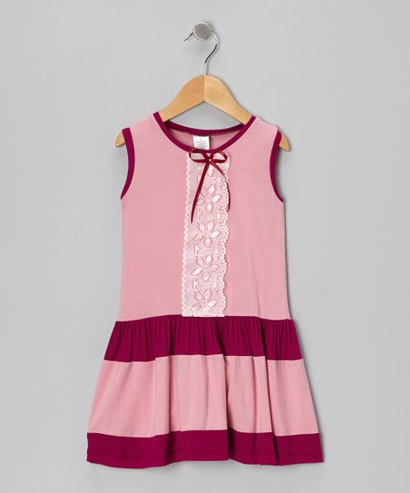 Pink & Plum Lace Dress - Toddler & Girls