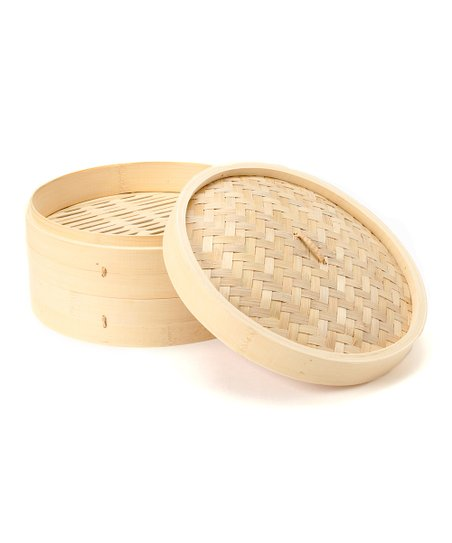 Three-Tier Bamboo Steamer
