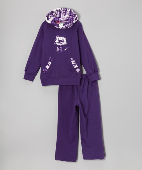 Purple Fox Hoodie & Pants - Toddler & Girls
