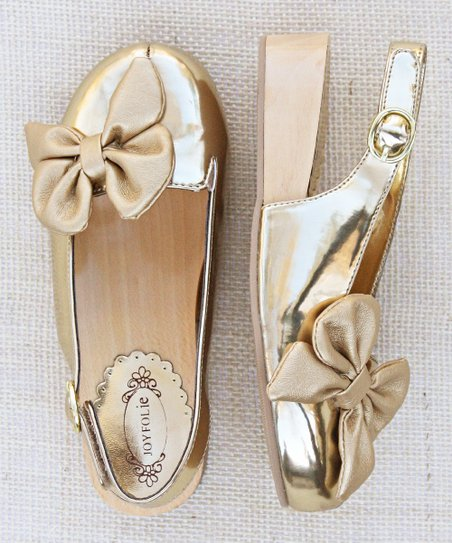 Gold Olivia Clog - Kids