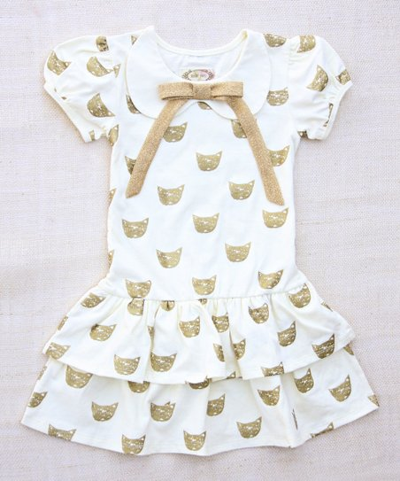 Cream Cat's Meow Peter Pan Dress - Infant & Toddler