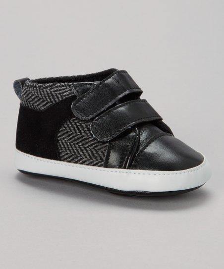 Black Zigzag Double-Strap Sneaker