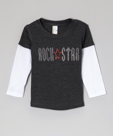 Charcoal 'Rockstar' Layered Tee - Infant, Toddler & Boys