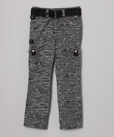 Black Camo Cargo Pants - Boys