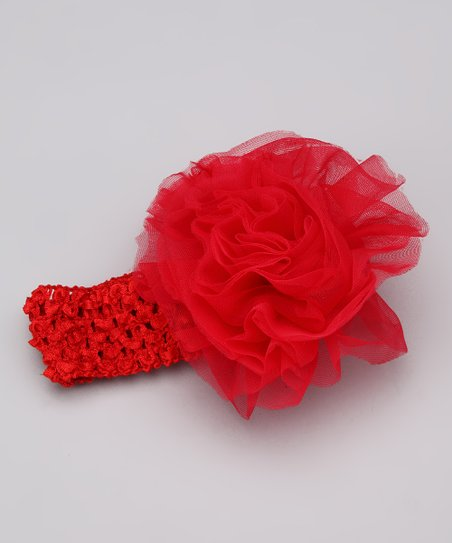 Red Rosette Headband