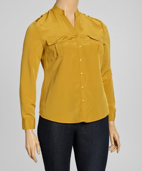 Maple Mandarin Collar Top - Plus