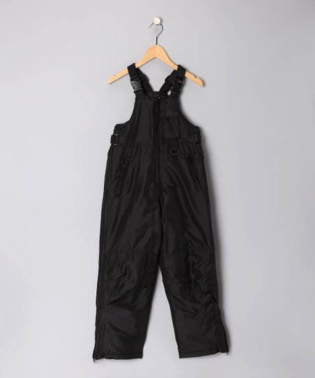 Black Bib Pants - Toddler & Kids